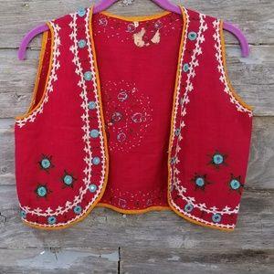 Vibrant boho Embroidered Vest